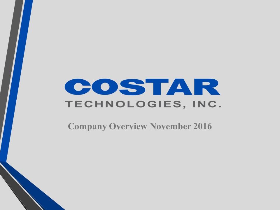 Investor Presentation | Costar Technologies Inc Investor Relations Investor Presentations